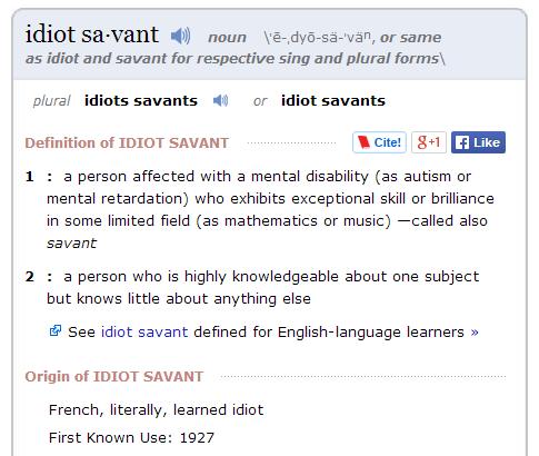 IdiotSavant